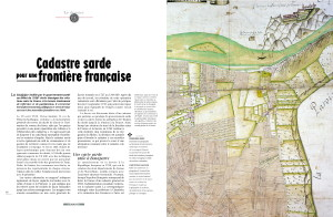 Cadastre sarde pour une frontière française