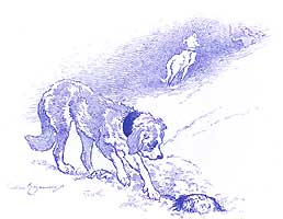 """""""Un sauvetage"""". Illustration tirée de l'ouvrage """"Une excursion au Grand Saint-Bernard"""" de Frédéric Regamey, XIXe siècle/ Collection Musée dauphinois."""