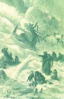 """""""Après l'avalanche"""". Illustration d'Emile Bayard tirée de l'ouvrage"""
