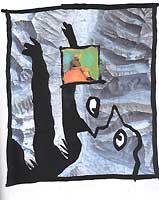 Illustration d'Hervé Frumy pour L'Alpe sur la base d'une photographie représentant Fernand Bellin aimablement fournie par son fils Jean-Marc Bellin.