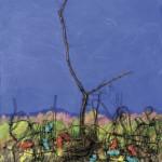 « Verso il cielo », 2007, huile sur toile de Franco Pulacini.